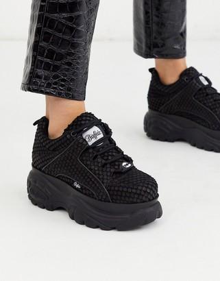 Buffalo David Bitton London Sneaker in Snake Print Leather