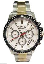 Rotary Men's Dial Stainless Steel Two Tone Bracelet Chronograph Watch GB00173/02