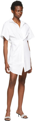 alexanderwang.t White Twisted Placket Dress