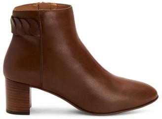 Aquatalia Feliciana Leather Heeled Booties
