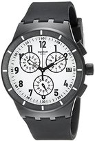 Swatch Unisex SUSB401 Twice Again Black Analog Display Quartz Black Watch