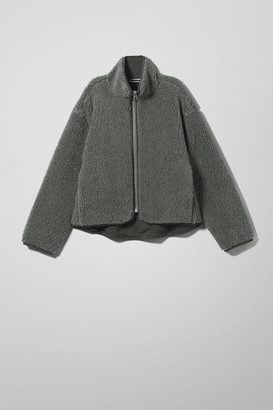 Weekday Frigg Pile Jacket - Grey