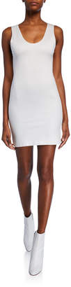 Alice + Olivia James Fitted Scoop-Neck Mini Dress