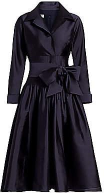 Teri Jon by Rickie Freeman Women's Taffeta Pleated Shirt Dress