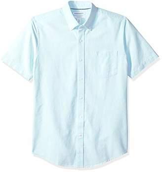 Amazon Essentials Slim-fit Short-sleeve Pocket Oxford Shirt Button,(EU M)