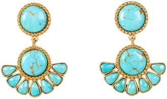 Christina Greene Free Bird Earring In Turquoise
