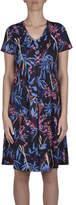 Jump Short Sleeve Fern Blossom Print Dress