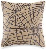 Kelly Wearstler Haze Shuck Square Throw Pillow in Onyx