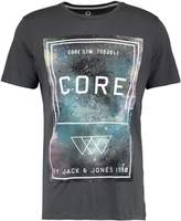 Jack and Jones JCOTAKAS CREW NECK SLIM FIT Print Tshirt asphalt