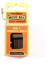 Kikkerland What A Wonderful World Crank Music Box