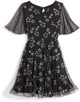 Nowadays Skai Tween Star Print Mesh Dress, Big Girls (7-16) & Juniors (1-5)