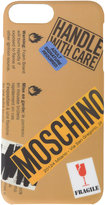 Moschino logo warning sign iPhone 6+ case - women - PVC - One Size
