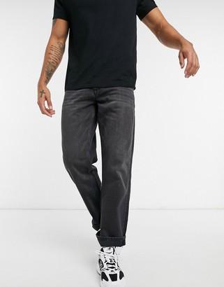 Topman skater jeans in washed black