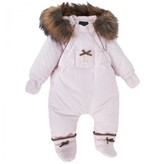 Fendi Pink Snowsuit with Removable Mittens and Booties