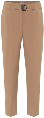 Brunello Cucinelli Belted straight pants