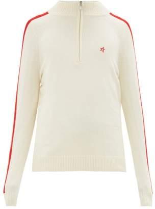 Perfect Moment La Tour Iv Merino-wool Half-zip Sweater - Mens - White Multi