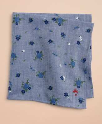 Brooks Brothers Cotton Ditzy-Print Floral Pocket Square