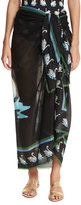 Stella McCartney Iconic Prints Swan-Printed Cotton Sarong