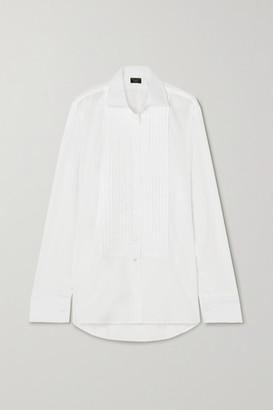Emma Willis Net Sustain Jermyn Street Pleated Cotton-poplin Shirt - White