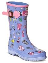 Joules Girls' Horse Print Rain Boots - Blue