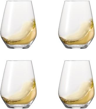 Spiegelau Authentis 4 Piece Crystal Stemless White Wine Glass Set 420ml