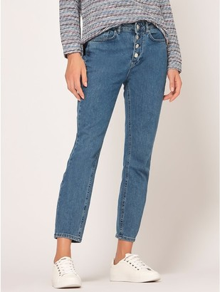 M&Co Straight leg ankle grazer jeans