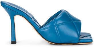 Bottega Veneta Quilted Leather Sandals in Pacific | FWRD