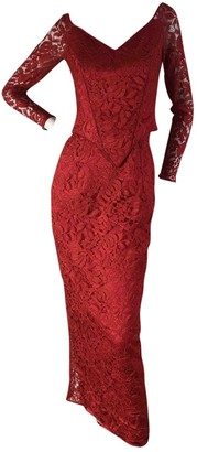 Jenny Packham Red Synthetic Dresses