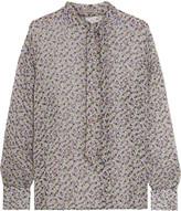 Bottega Veneta Floral-print silk-georgette blouse