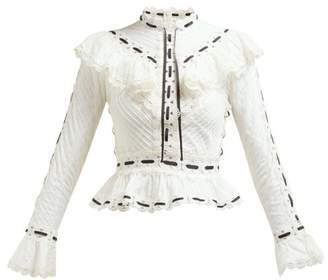 Zimmermann Honour Pintuck Broderie Anglaise Blouse - Womens - White