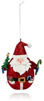 Bloomingdale's Metal Glitter Santa Ornament - 100% Exclusive