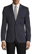 Nick Graham Solid Notch Lapel Sportcoat