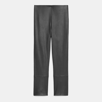 Theory Skinny Capri Legging in Leather