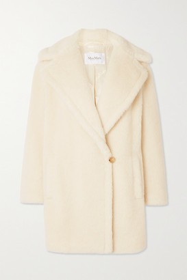 Max Mara Teddy Bear Icon Short Alpaca, Wool And Silk-blend Coat - Ivory