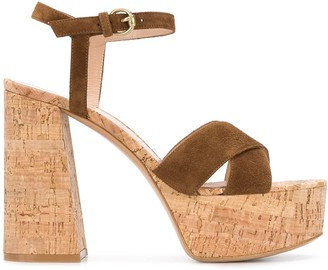Gianvito Rossi Platform Cork Sandals
