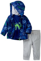 Little Me Dino 3-Piece Jacket Set (Baby Boys)