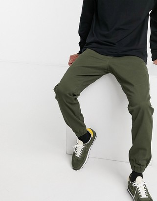 Jack and Jones Intelligence cuffed pants in green