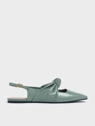 Charles & Keith Knotted Mary Jane Strap Slingback Flats