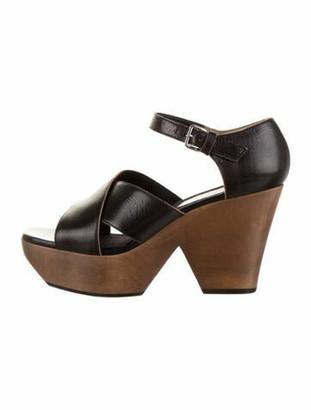 Marni Platform Leather Sandals Black