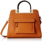 MG Collection Krista Structured Handle Tote Shoulder Bag