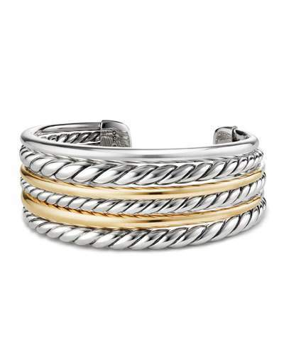 David Yurman Pure Form Multi-Row Cuff Bracelet w/ 18k Gold