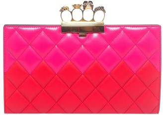 Alexander McQueen Quilted Four Ring Clutch Bag