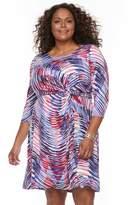 Dana Buchman Plus Size Waist Twist Dress