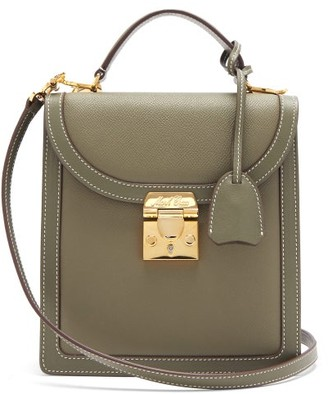 Mark Cross Uptown Saffiano-leather Cross-body Bag - Green