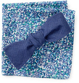 Original Penguin Kilborne Solid Bow Tie and Pocket Square Set