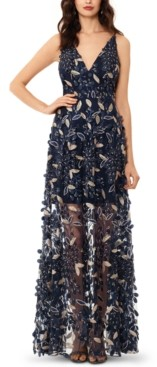 Xscape Evenings Petite 3D Floral Applique Gown