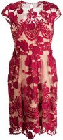 Marchesa embroidered flower dress - women - Polyester - 10