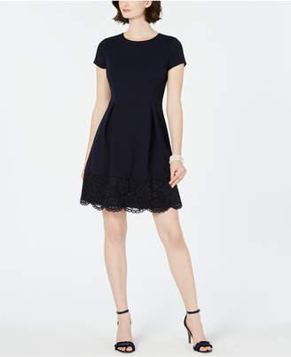 Jessica Howard Petite Lace-Edge A-Line Dress