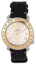 Fendi Selleria Mother-of-Pearl, Two-Tone Stainless Steel & Leather Strap Watch