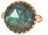 Heather Hawkins Splendor Rose Cut Ring - Labradorite / Rose Gold